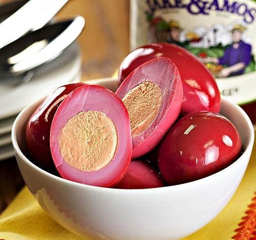 Jake & Amos Rojo de remolacha en vinagre Huevos, 16 oz. jar ...