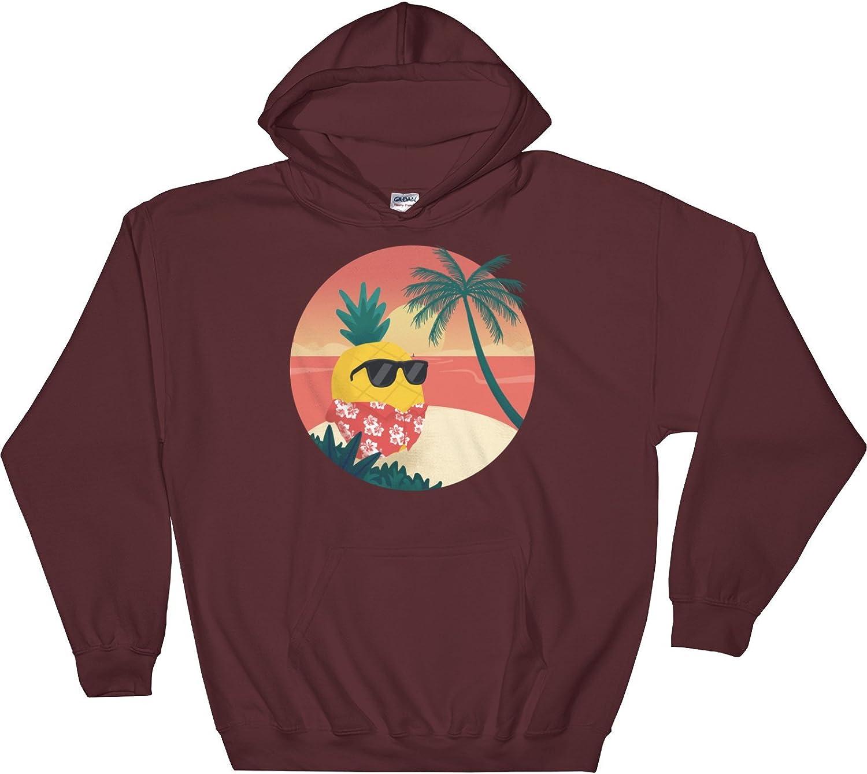 The Jazzy Panda Men's Pineapple Hoodie | Tropical Hawaiian Sweatshirt