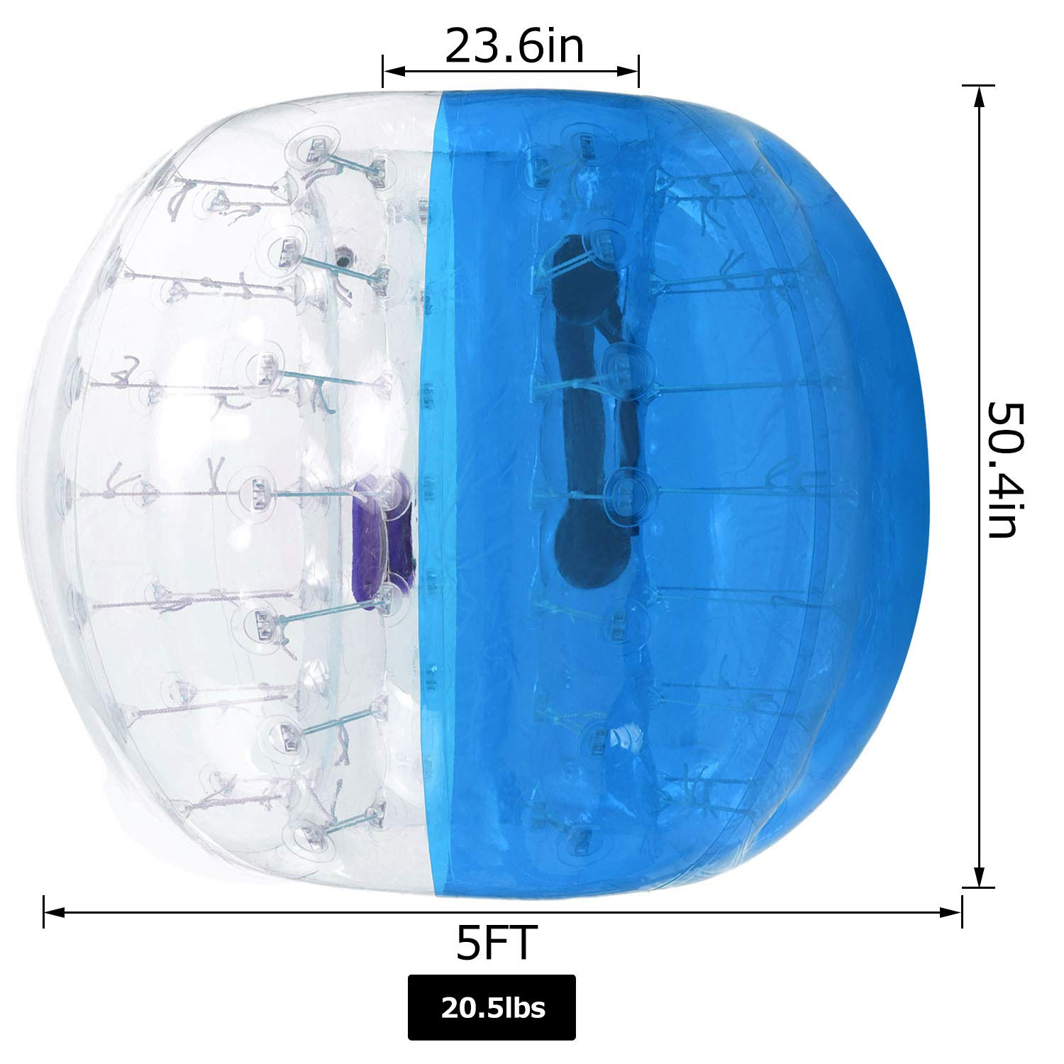 Giant Human Hamster Ball for Adults and Teens 1.2m//1.5m ANCHEER Inflatable Bumper Bubble Soccer Ball Dia 4ft//5 ft