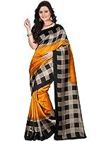 e-VASTRAM Women's Mysore Art Silk Saree (NS6A_Yellow)