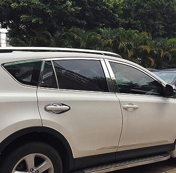For Toyota RAV4 2013 2014 2015 Stainless Inside Rear Bumper Protector Sill Cover