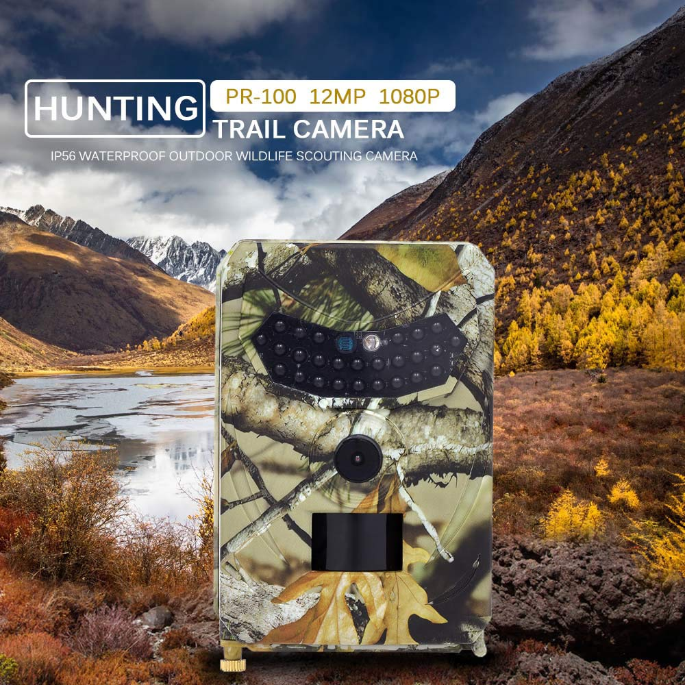 Night Vision Outdoors Hunting 1080P HD 18MP Camera Video Wildlife Scouting by Rexbhi