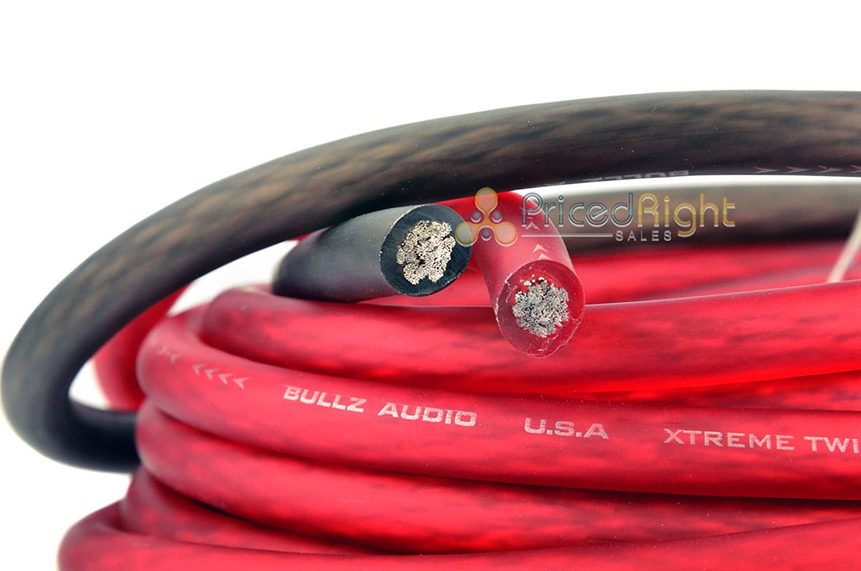 Bullz Audio 4 Gauge Car Sub Amp Amplifier Power Wiring Install