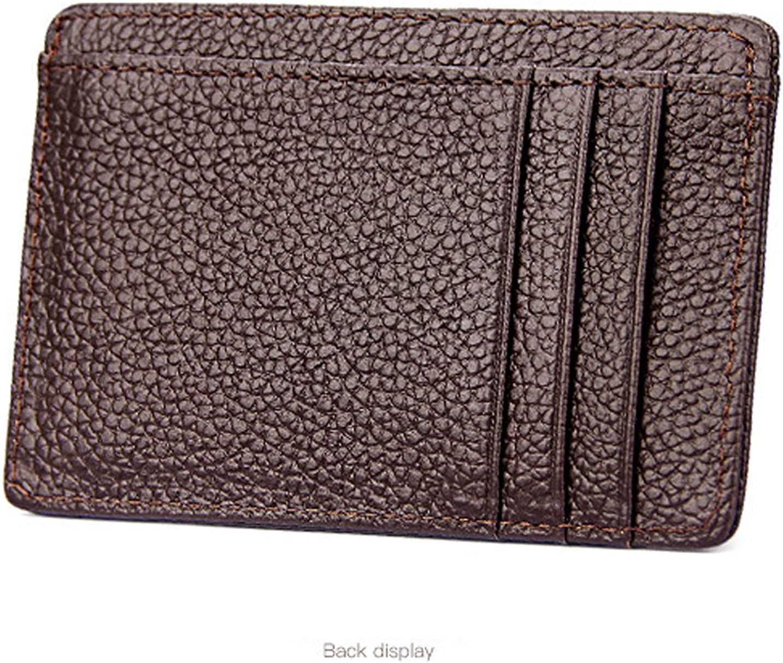 AgentX Mens Black Genuine Leather Credit Card Case Holder Slim Pocket  Wallet Card & ID Cases Business Card Cases