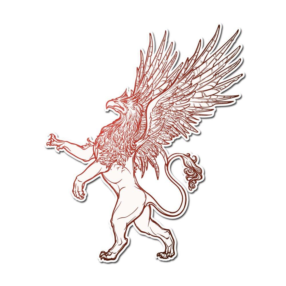 高級感 Medieval Griffin Sigil – ビニールデカール屋内または屋外の使用 More、車 –、ノートパソコン 4、飾り、Windows、and More 4 Inch レッド griffin-decal4 4 Inch B078XRJX83, シロイシシ:375ad67b --- a0267596.xsph.ru