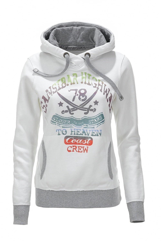 rationelle Konstruktion 2019 Ausverkauf ästhetisches Aussehen Damen Hoody SANSIBAR HIGHWAY 0113, White, Gr. XS: Amazon.de ...