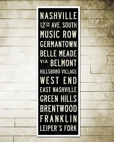 Nashville Subway Art. Nashville Poster. Stretched Canvas Home Or Office  Decor. 12 X