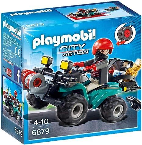 Playmobil Ladrón con Quad y Botín 6879: Playmobil: Amazon.es ...