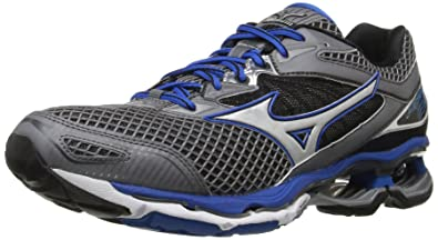 new styles c875a 759f4 Mizuno Men s Wave Creation 18 Running Shoe, Steel Gray Skydiver Silver, 7
