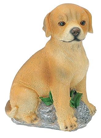 Garden Barking Dog Automatically Barks With Motion Sensor Polyresin Material