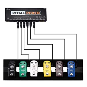 Guitar Pedal Power Supply 10 Isolated DC Output for 9V/12V/18V Guitar Bass Effects Pedals with Built-in USB Charging Port for Phone iPhone Pad iPad (Color: Power Supply, Tamaño: 10 inputs general)