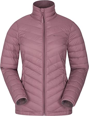 for Walking Warm Water Resistant Ladies Puffer Jacket Pack Away Hood Winter Coat Travelling /& Hiking Mountain Warehouse Get Going Womens Padded Jacket