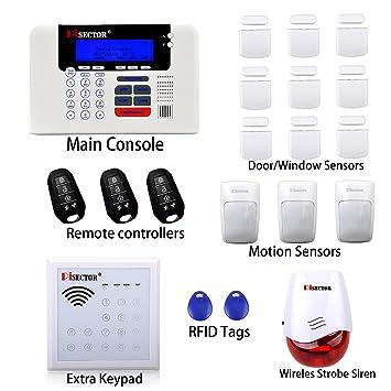 PiSECTOR 3G/4G Cellular U0026 Landline All In One Wireless Security Alarm System  DIY Kit