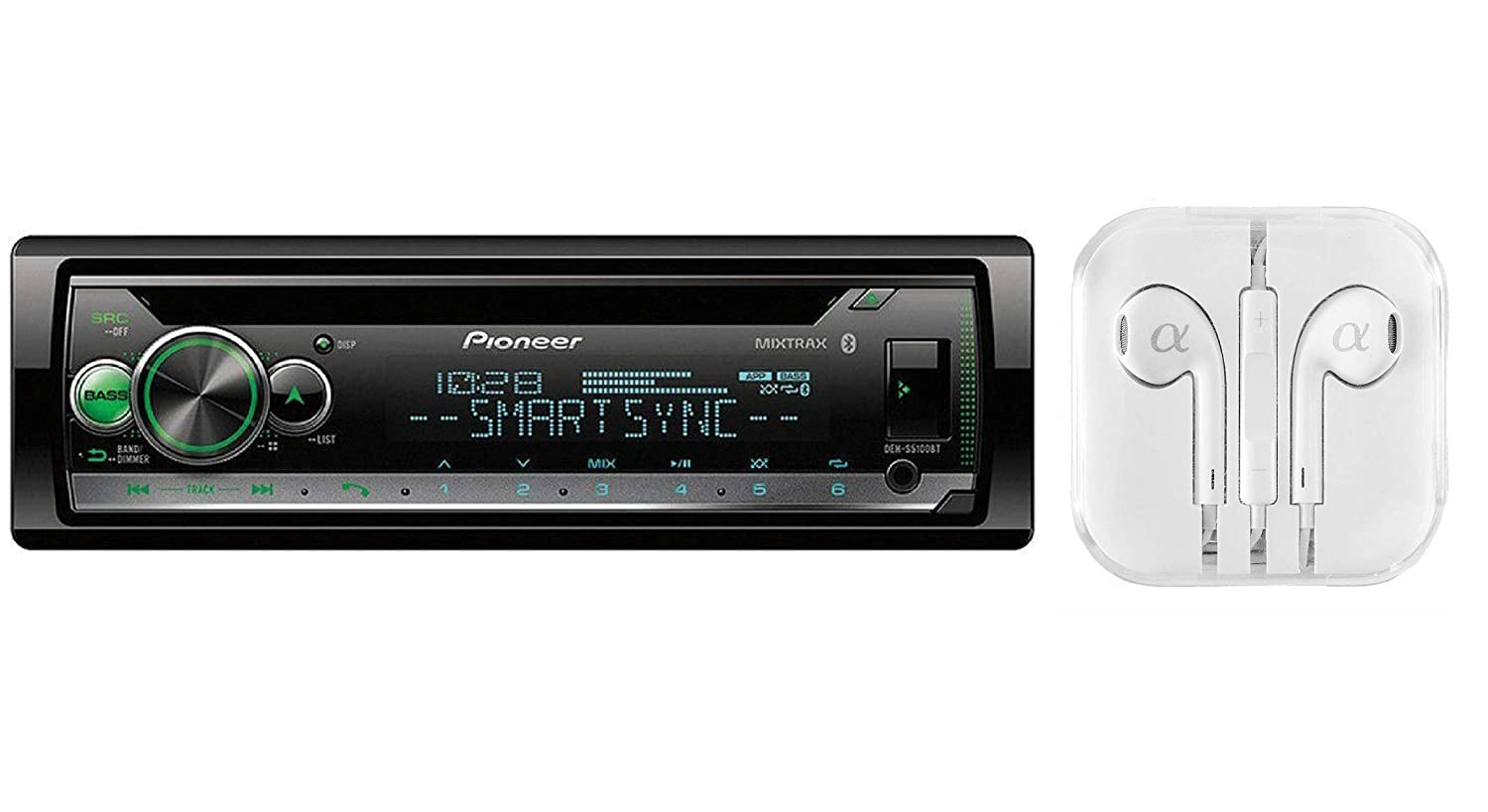 Pioneer Deh S5000bt Cd Receiver With Improved Arc App Scosche Wiring Harness Problems Compatibility Mixtrax Built In Bluetooth And Color Customization Cell Phones