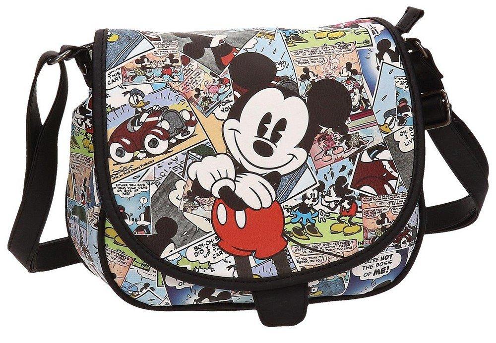 Disney 3235451 Mickey Comic Umhängetasche, Mehrfarbig