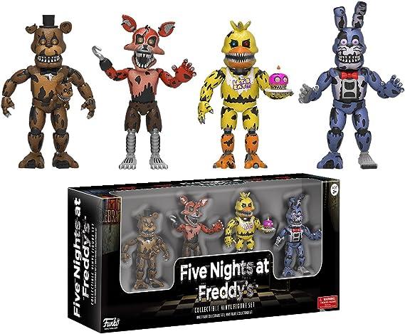 Set 4 Figuras Five Nights at FreddyS: Amazon.es: Juguetes y juegos