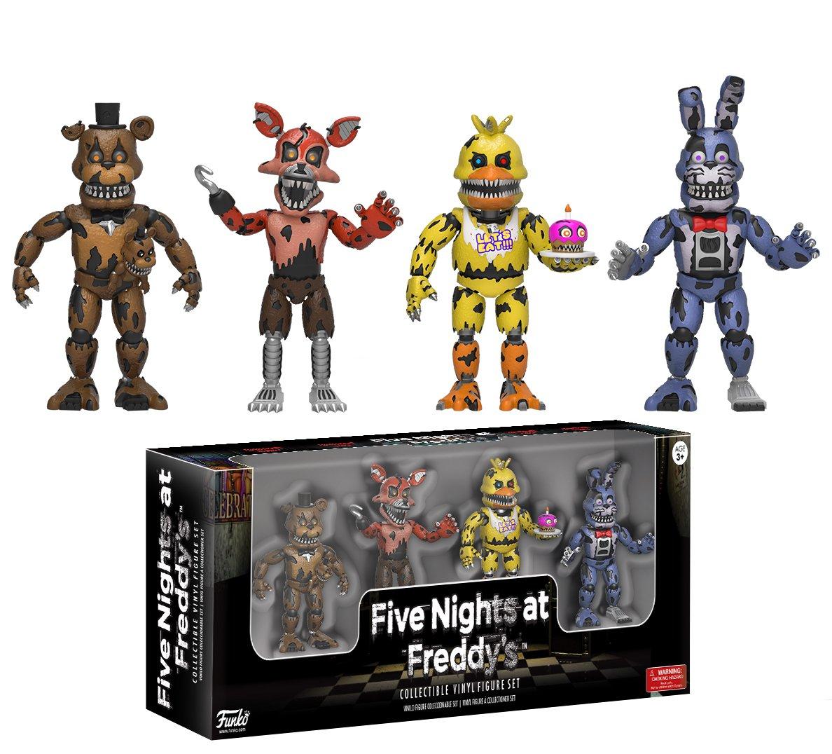 Funko Five Nights At Freddys 2 Nightmare Edition Vinyl Bott Pop Fnaf Freddy Figure Four Pack Figures Toys Games