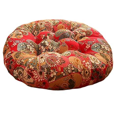 Amazon.com: Estilo chino cojín redondo silla cojín de piso ...