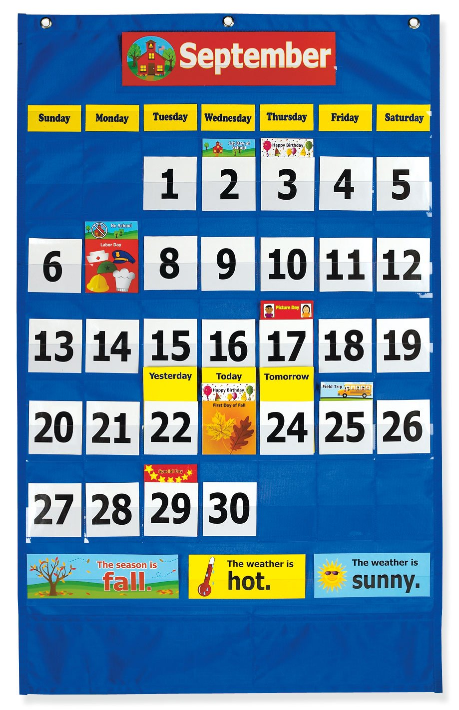 Pacon Calendar Weather Pocket Chart (0020800) by Pacon (Image #2)