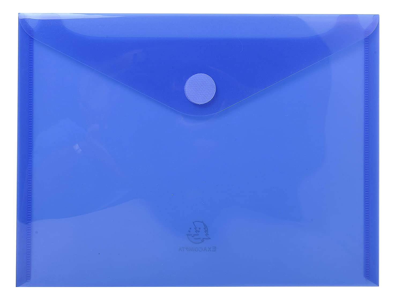 Glattes PP, 24 x 18cm f/ür DIN A5, mit Klettverschluss 5 St/ück farbkombination Exacompta 56720E Prospekth/üllen
