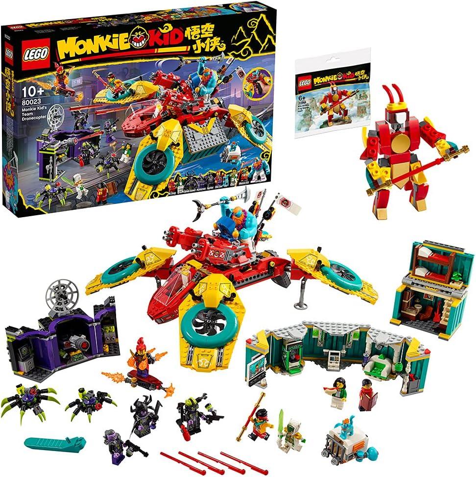 【メーカー特典】レゴ(LEGO) モンキーキッド モンキーキッドのドローンバスター 80023 + モンキーキッドミニセット 付き