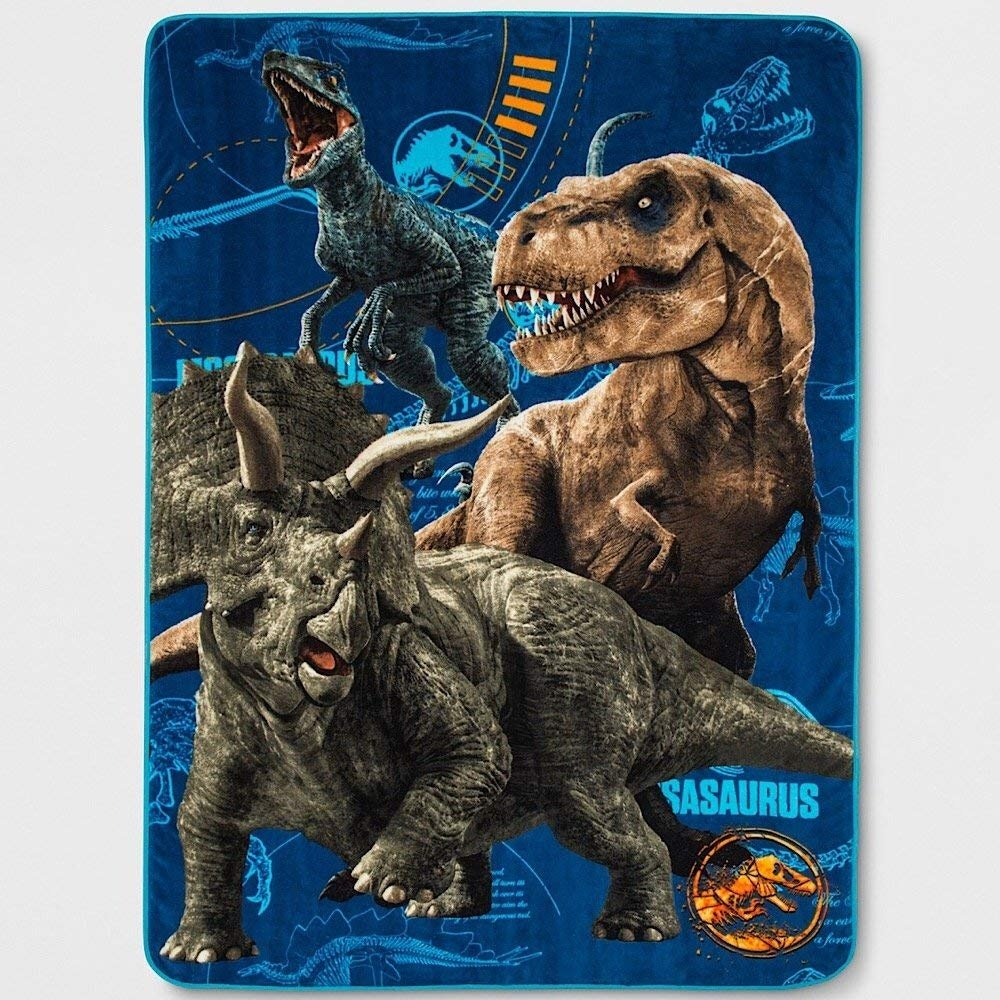 Jurassic World Jurassic Escape Twin Dinosaur Bed Blanket 62 x 90 Franco