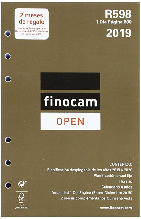 Amazon.com : Finocam 711670019 - Year Refill 2019 : Office ...
