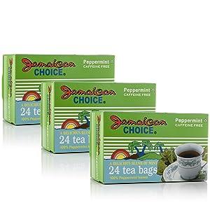 Jamaican Choice Peppermint Tea, Kosher   24 Tea Bags (3-Pack)