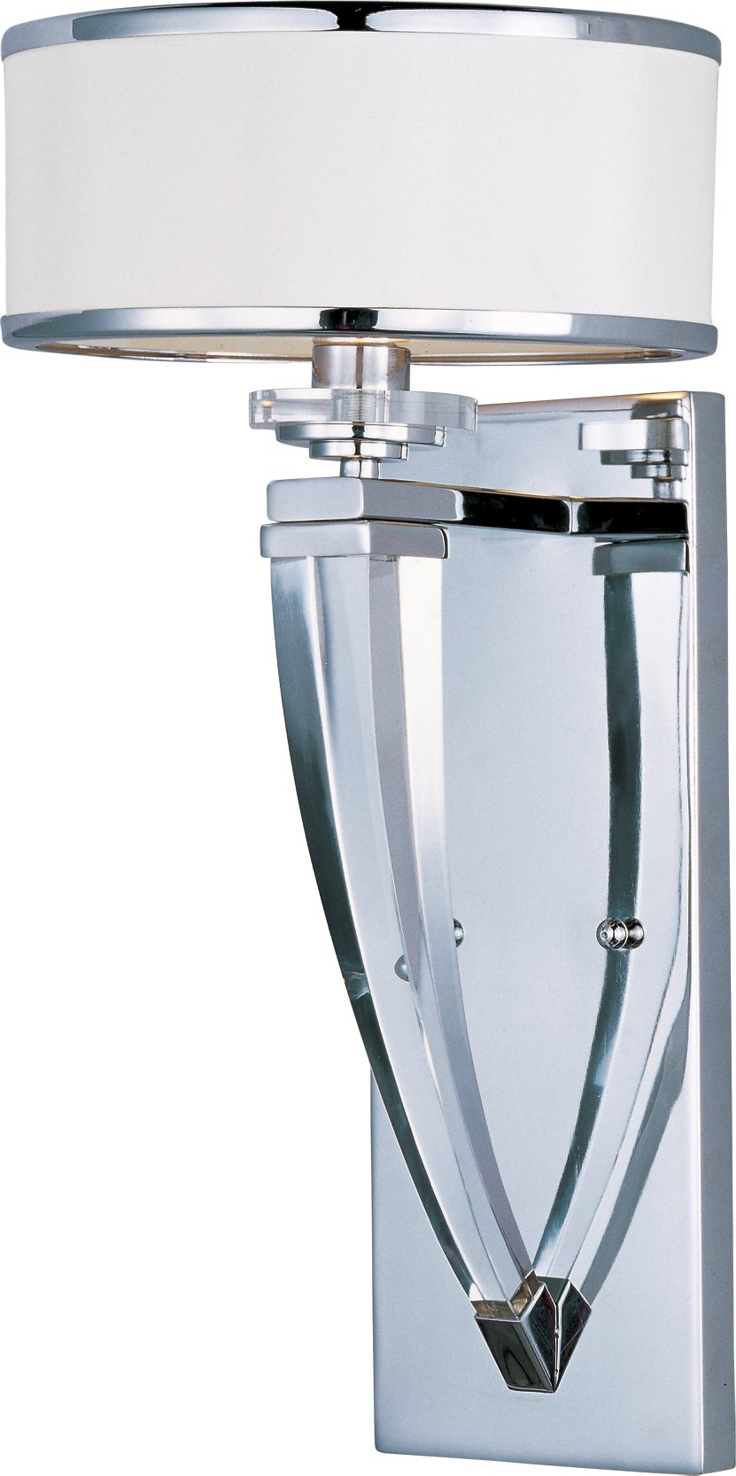 Maxim 39828BCWTPC Metro 1-Light Wall Sconce, Polished Chrome Finish, Beveled Crystal Glass, G9 Xenon Xenon Bulb , 100W Max., Wet Safety Rating, Standard Dimmable, Glass Shade Material, 1150 Rated Lumens