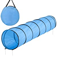 Dog Agility Tunnel Dog Agility Tunnel Tunnel Game with Pegs and Carry Case, blue, 300 cm