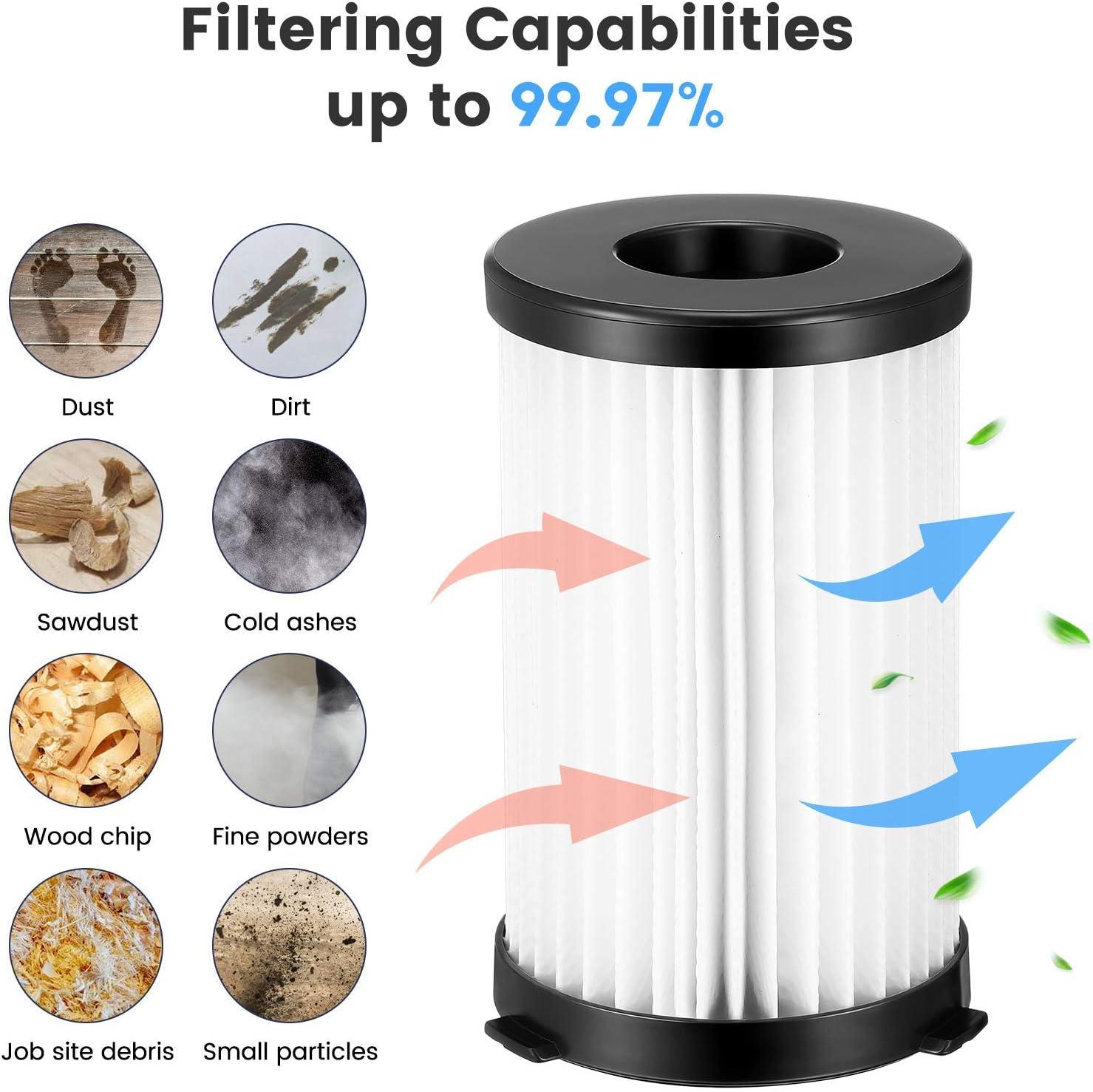 Funnytime Kits 12 pi/èces avec 6 filtres 6 /éponges pour aspirateur Moosoo D600 pour Ariete 2761 XCMS006