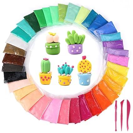 amazon com 36 colors diy modeling clay kit trofoty ultra light
