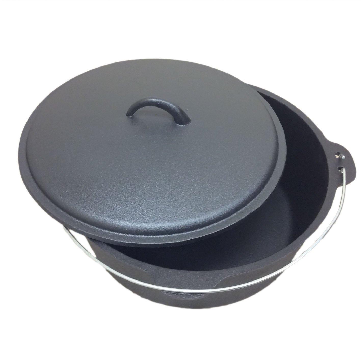 cuisiland Seasoned 9 Quart 12 Inch Cast Iron Dutch Oven Dome Lid