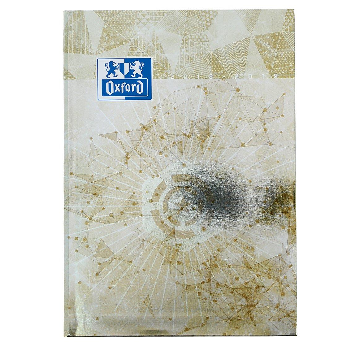 Oxford Metal Agenda Scolaire Journalier 2018-2019 1 Jour Page 352 Pages 15x21 Bleu 400082331