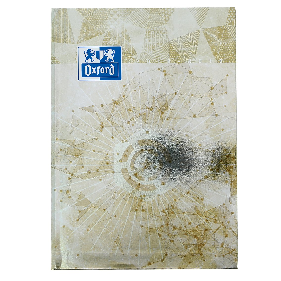 Oxford 100735705 Metal 2018-2019 Daily School Diary Day A Page, 15 x 21 cm, Champagne