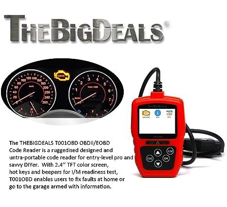 THEBIGDEALS T001OBD OBD II Scanner Car Engine Fault Code