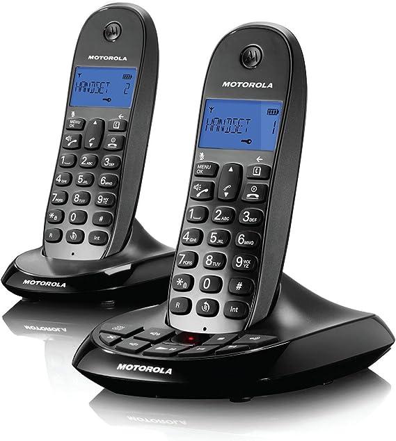 Motorola C1212, teléfono inalámbrico con contestador automático (versión alemana!) (Twin-Set): Amazon.es: Electrónica