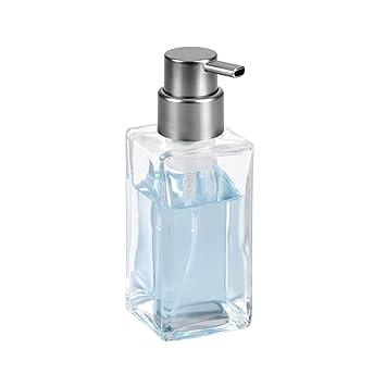 mDesign Dispensador de espuma - Elegante dosificador de jabón en espuma de cristal - Dosificador de baño ideal como dispensador de jabón líquido ...