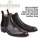[サンダース] ミリタリー サイドゴア ブーツ ビジネス BUCHAREST 1554TD メンズ チェルシーブーツ ダークブラウン