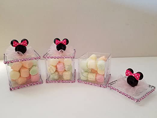 Amazon.com: 12 Minnie Mouse fillable bloques Baby Shower ...