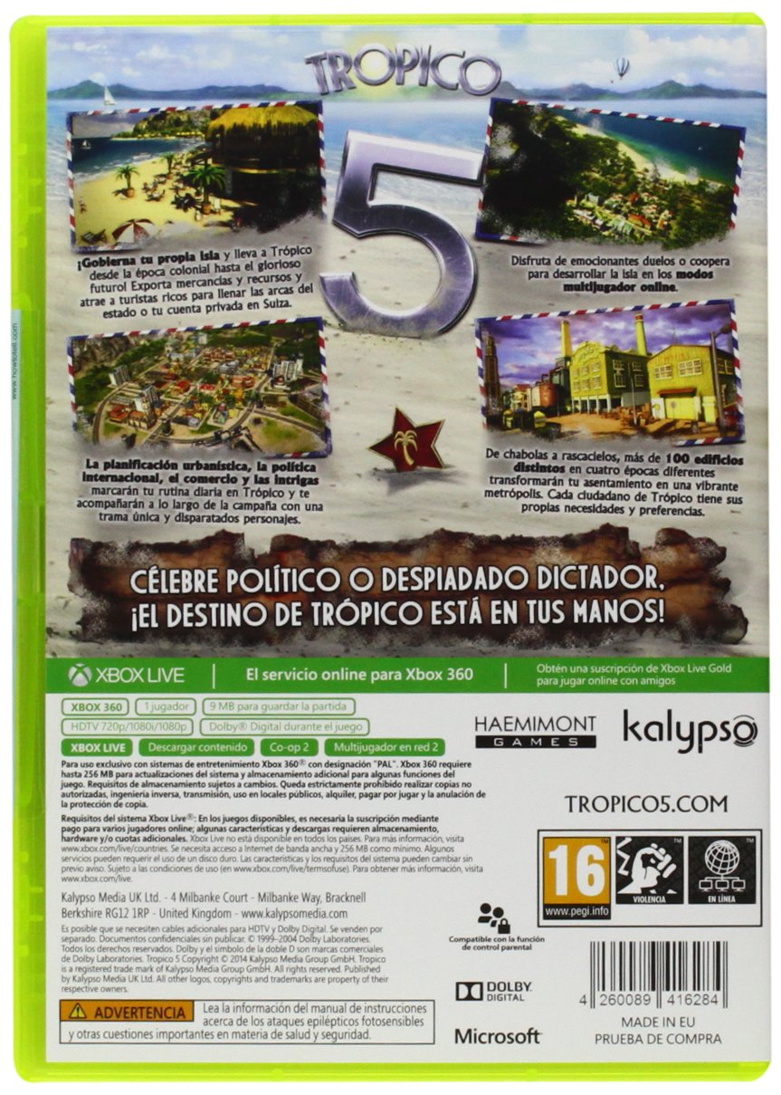 Tropico 5 - Day One Edition: microsoft xbox 360: Amazon.es ...