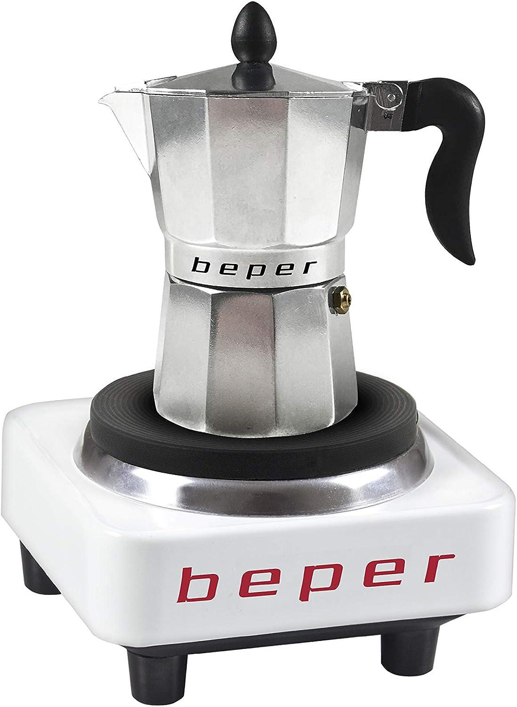 Beper 90.358H Hornillo eléctrico, 300 W, Blanco Y Negro ...