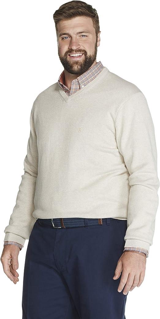 IZOD Mens Big and Tall Premium Essentials Solid V-Neck 12 Gauge Sweater