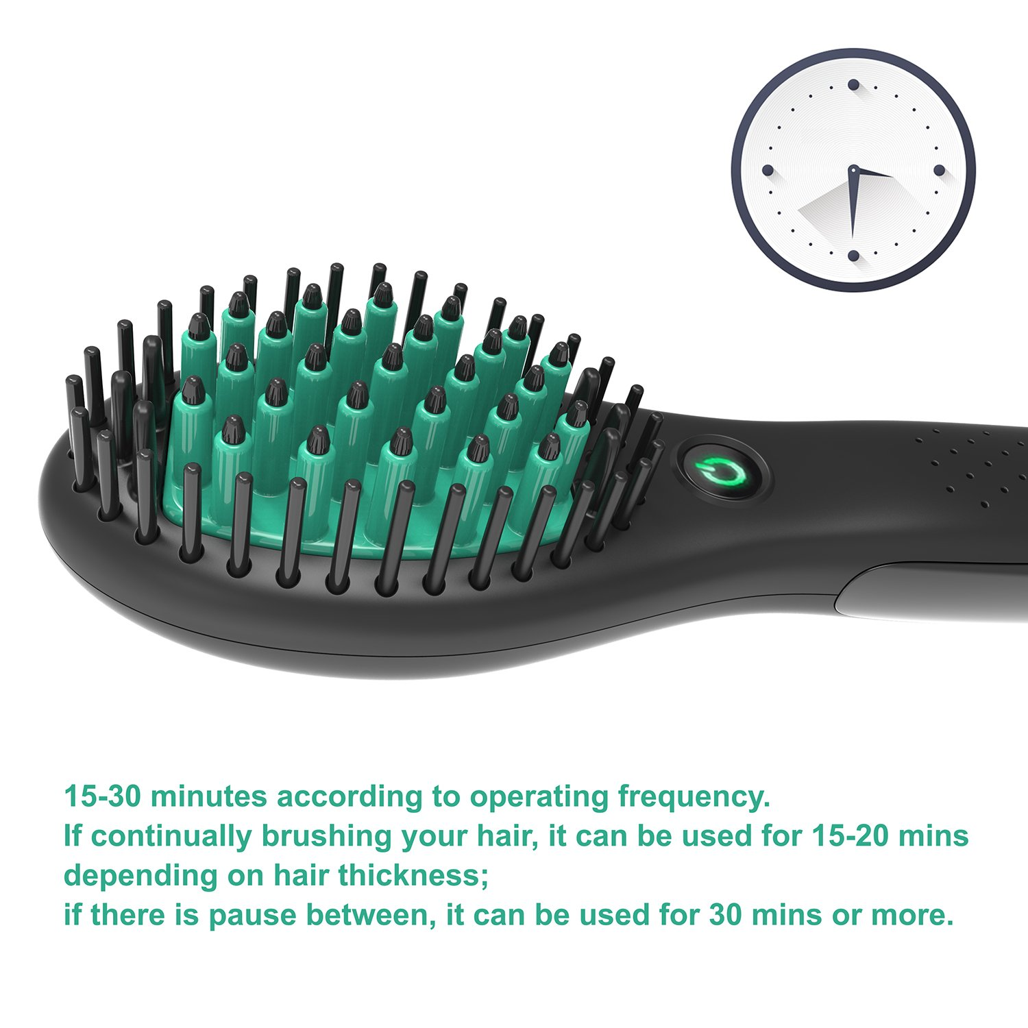 Travel Straightening Brush, Rechargeable Hair Straightening Brush (Black) by Showliss (Image #7)