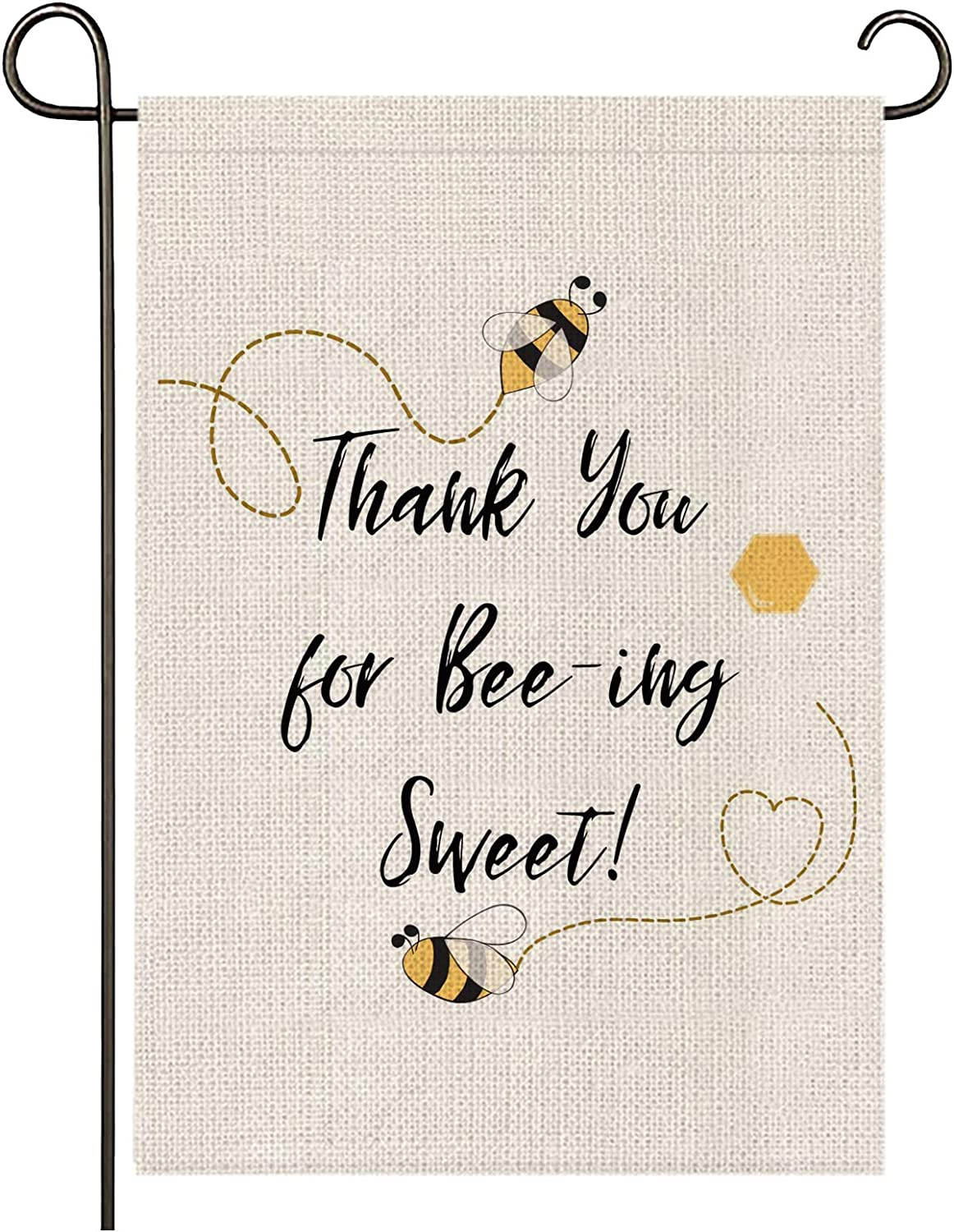 onetoze Bumble Bee Garden Flag Vertical Double Sided, 12.5X18inch Welcome Garden Flag, Premium Polyester Weather Proof for Yard Outdoor Decoration