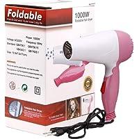 Techsun Mart Plastic Professional Folding Hair Dryer Hair 1000W (Multicolour, 1000WFoldablehairdryer)