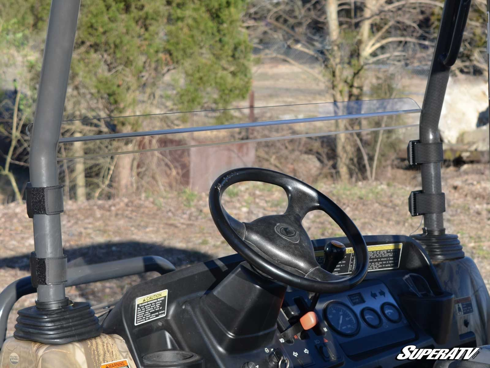 MADE IN THE USA! SuperATV Kubota RTV 900 Scratch Resistant Half Windshield and Free Unhinged ATV Hat! by Super ATV (Image #4)
