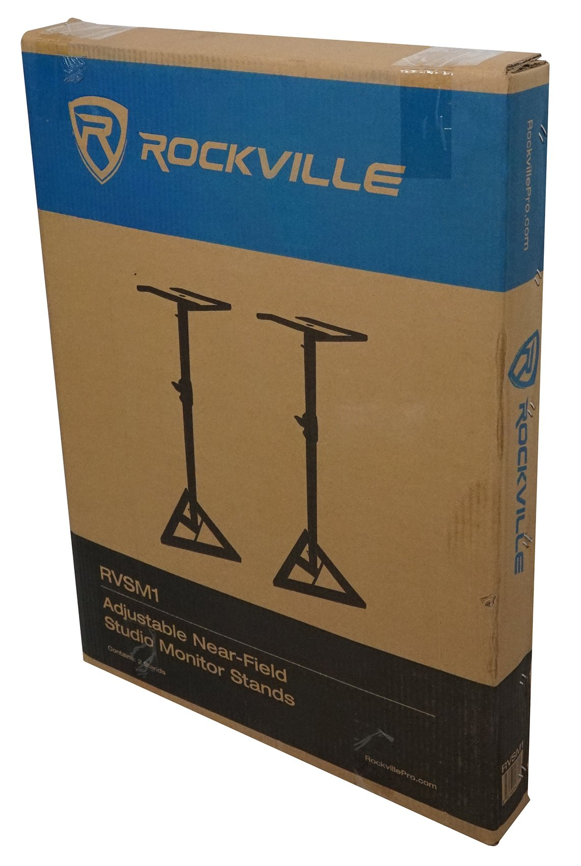 Rockville RVSM1 Pair of Near-Field Studio Monitor Stands w/Adjustable Height by Rockville (Image #9)