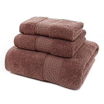 Algodón Toallas de baño de suave, suave y absorbente Premium calidad 3 piezas Juego de toallas con manopla, toalla de mano, toalla de baño y: Amazon.es: ...