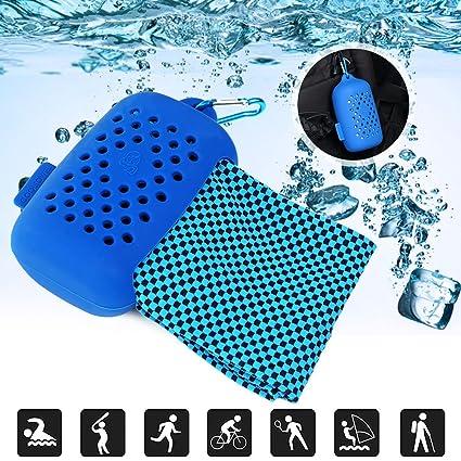 Toalla refrigerante Faway, azul marino: Amazon.es: Deportes ...